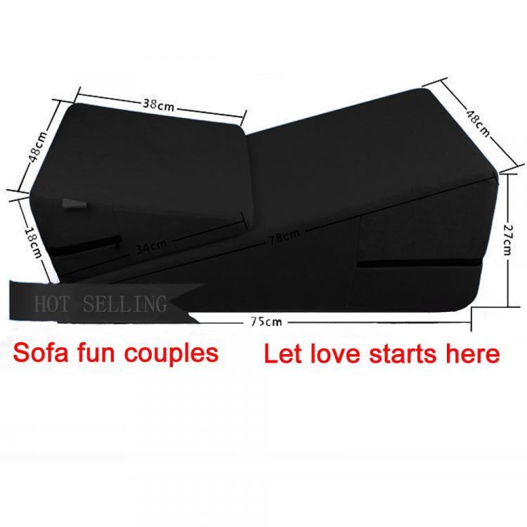 Factory-outlet-black-Adult-sex-sofa-Sex-